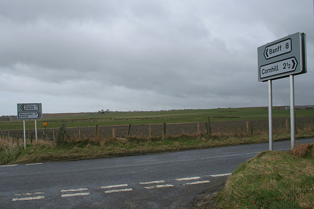 Strathord junction on the B9025.