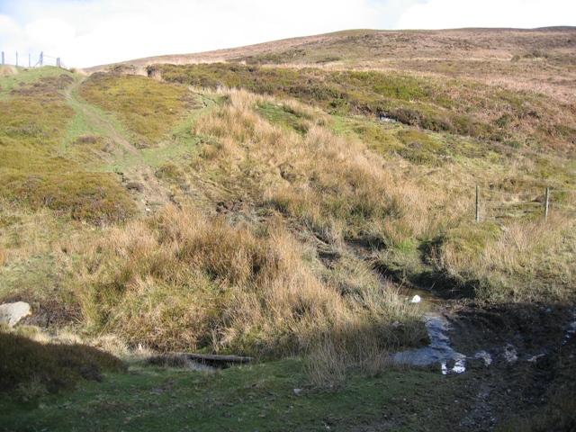 Stream Crossing below Moel y Gamelin