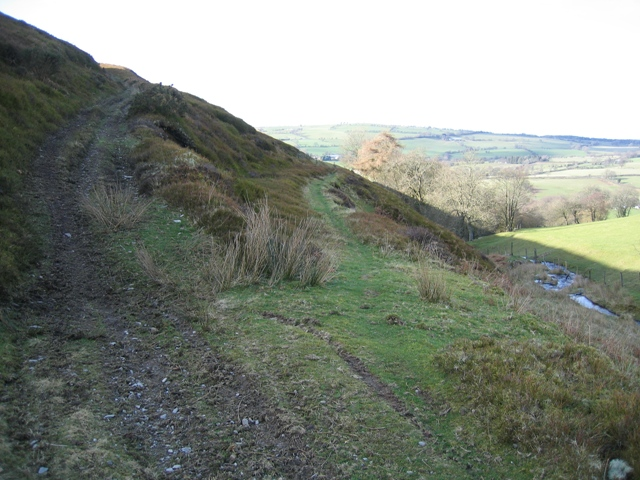 Bridleway Junction below Moel y Gaer