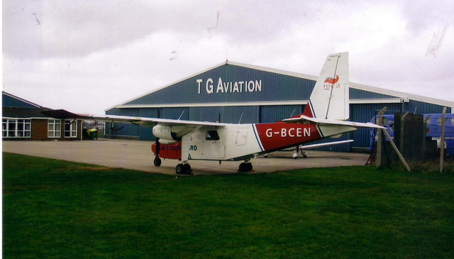 T.G. Aviation hangar at Manston