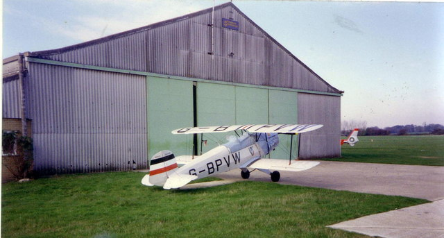 Aircraft and hangar at Goodwood