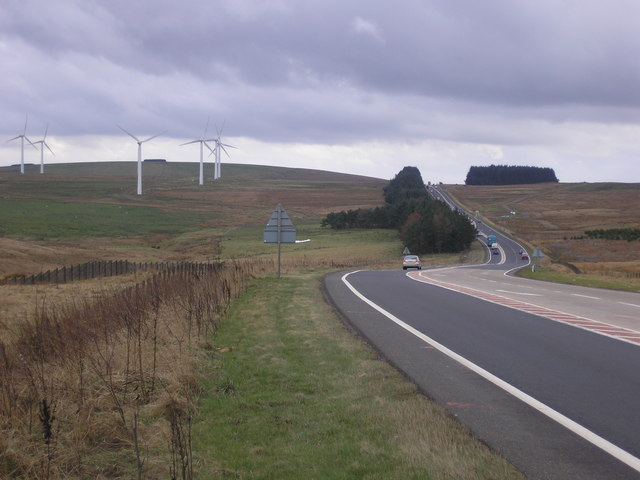 The A 68 - the view to the South from Soutra