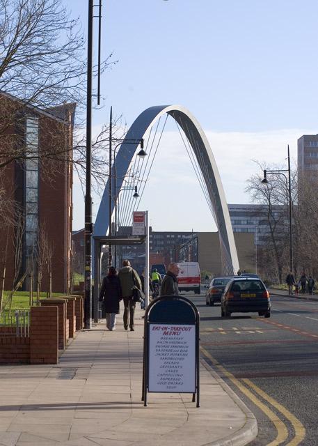 Hulme Arch from Stretford Road
