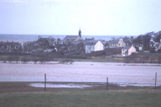Flood in 1982 at Ballantrae