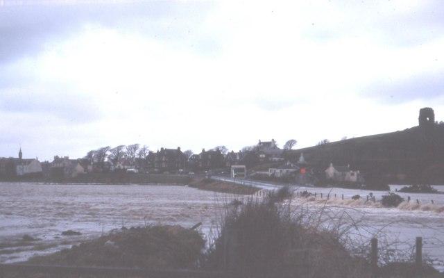 High Tide meets flooded River Stinchar