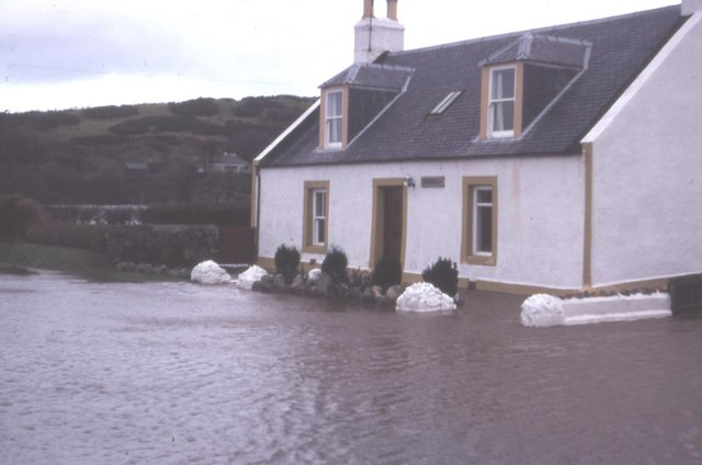 Lagganholm Cottage under attack from floodwater