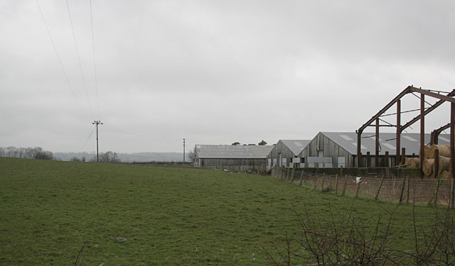 Farm buildings at Park Hall.