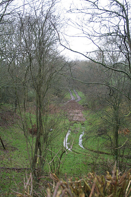 Former railway alignment at Grindley