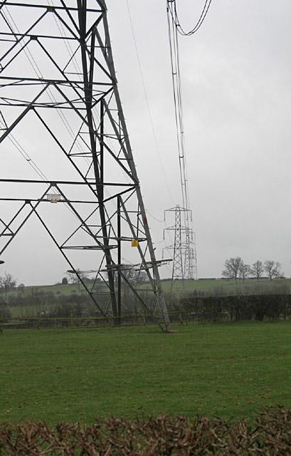 National Grid transmission line near Uttoxeter