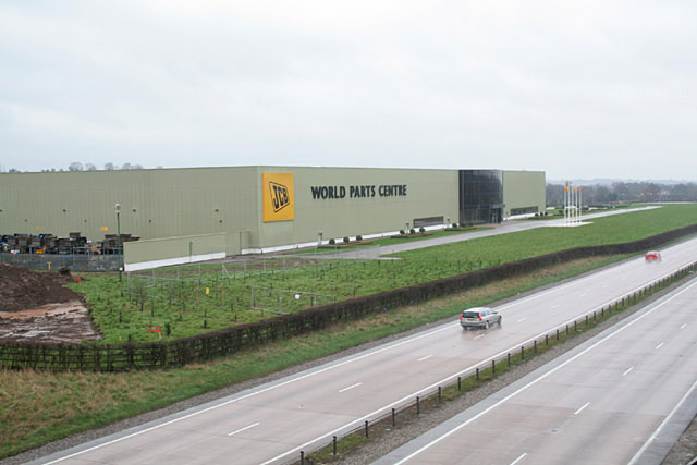 JCB World Parts Centre near Uttoxeter