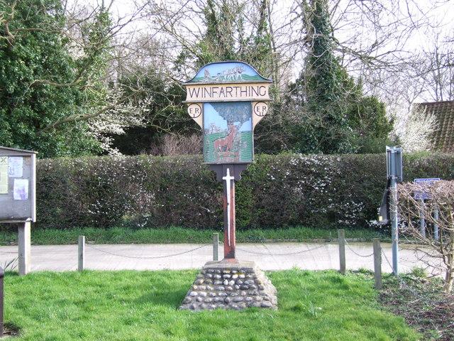 Winfarthing Village Sign
