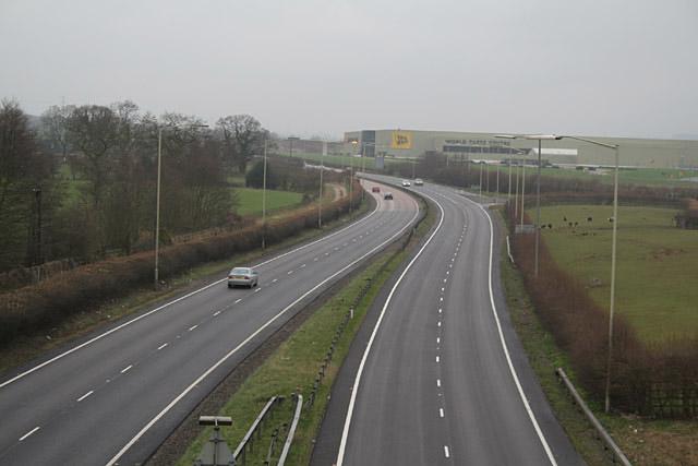A50 near Uttoxeter