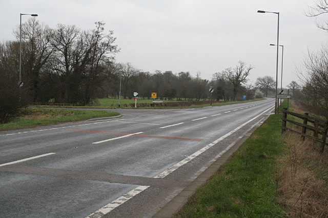 Junction of Old Uttoxeter Road, Crakemarsh