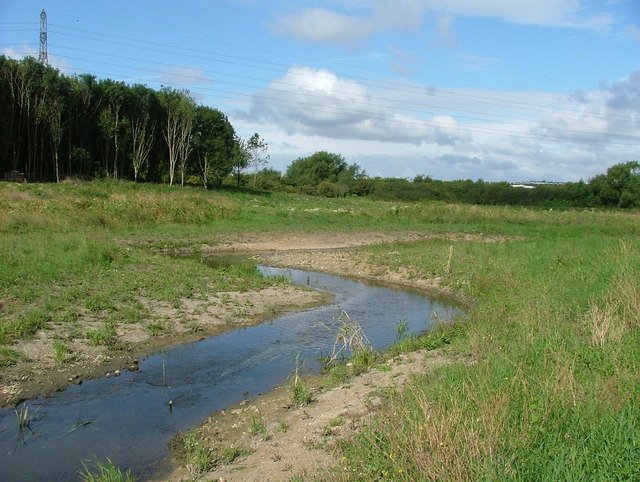 River Ray new meandering channel at Rivermead