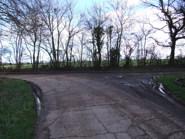 Junction on Lane to Park Farm, Winfarthing