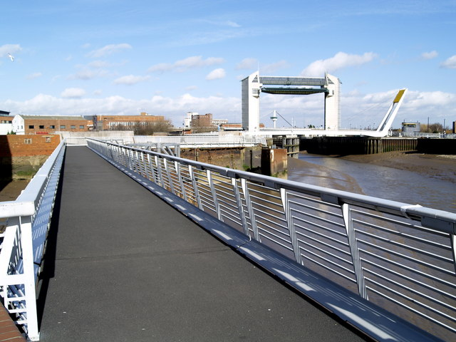 Footway and the Tidal Barrier