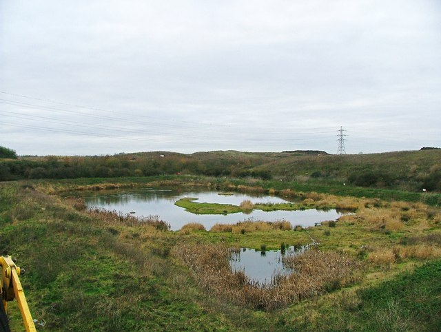 Lagoon at the Swindon Sewage Works nature area