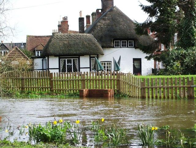 River Avon in Flood, Ringwood.