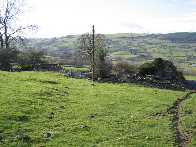 Footpath past Pen -y-bryn Farmhouse
