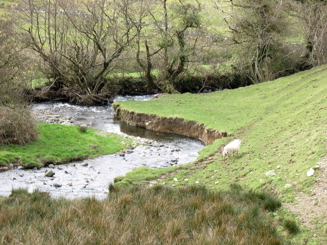 A river-cliff at the Pant Afon confluence