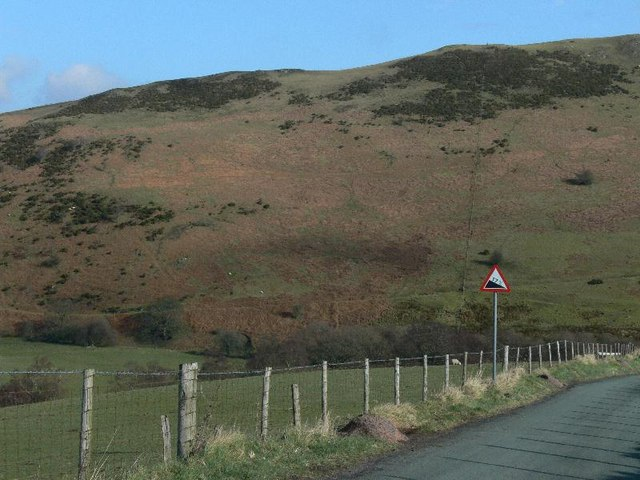 Moorland road to Llanarmon