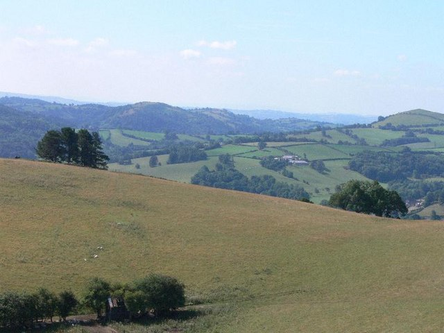 View southwest in hills north of Llanfyllin
