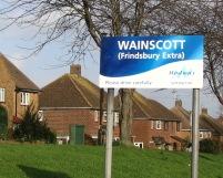 Wainscott Village sign, December 2006