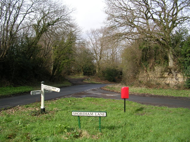 Road Junction at Shoreham Lane