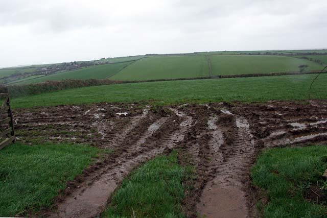 A muddy gateway.