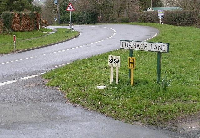 Furnace Lane road junction