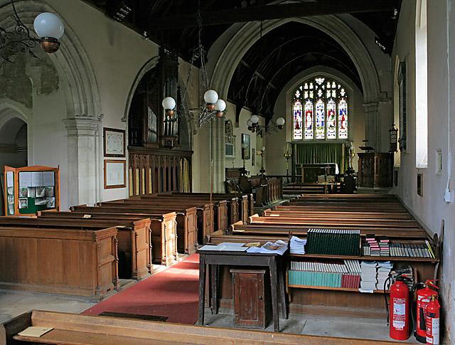 Interior of All Saint's Church, East Stratton