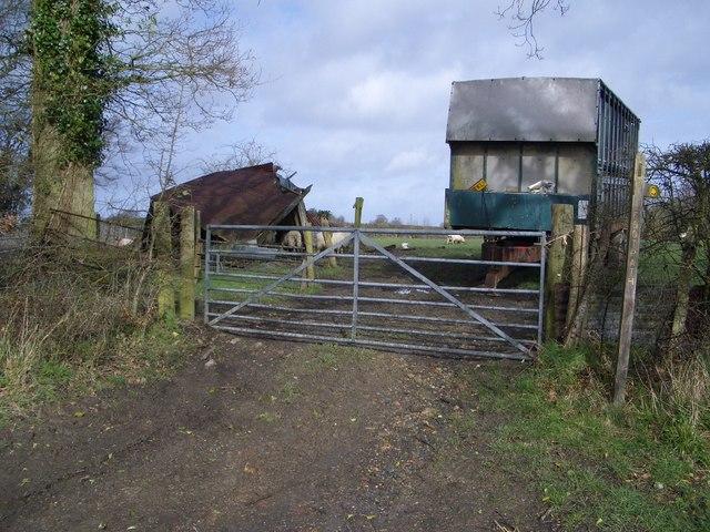 Footpath Entranceway near Cowbeech