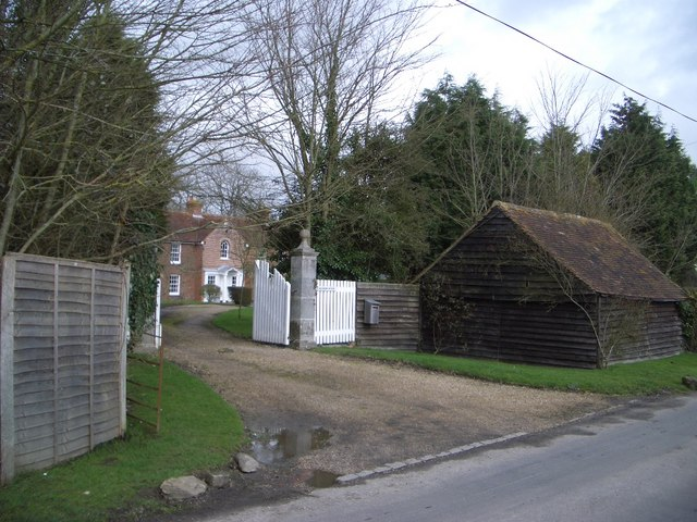 Entrance to Chilsham House near Herstmonceux