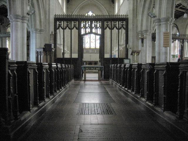 Inside All Saints Church Shillington