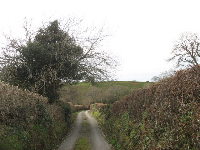 Country lane near Pont Faen