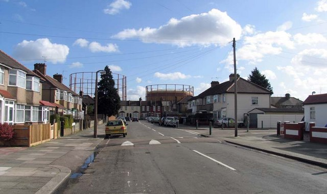 Gas Holder from Stockton Road, London N18