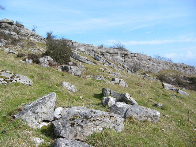 Limestone crags on Hampsfell