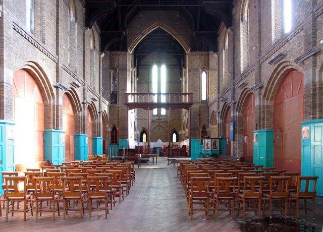 St Mary w St John's Church, Dyson's Road, London N18 - East end