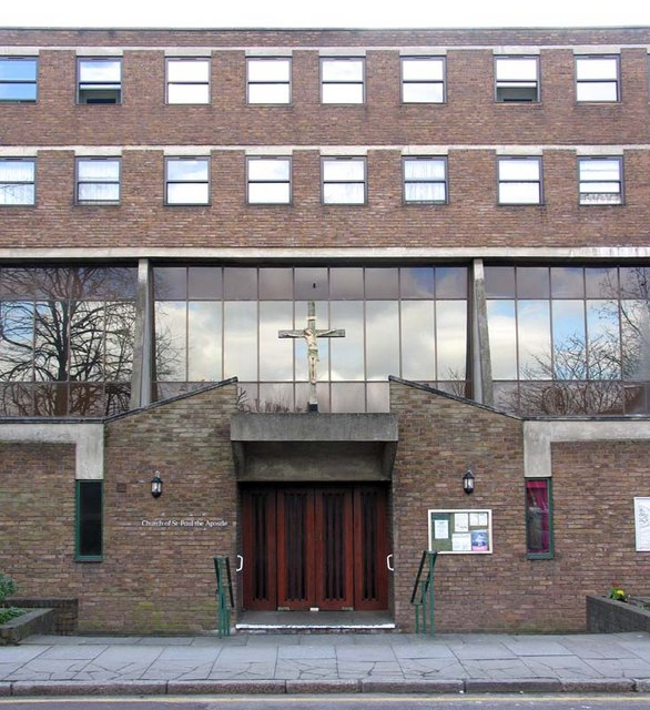 St Paul's Church, entrance in Park Lane, London N17