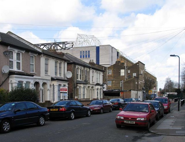 Tottenham Hotspur Football Ground from Vicarage Road, N17