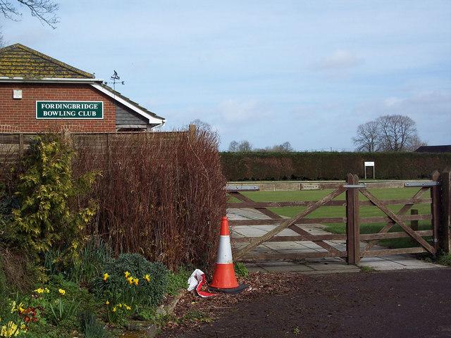 Entrance to Fordingbridge Bowling Club