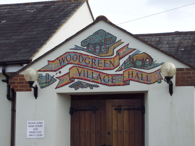 Sign for Woodgreen Village Hall
