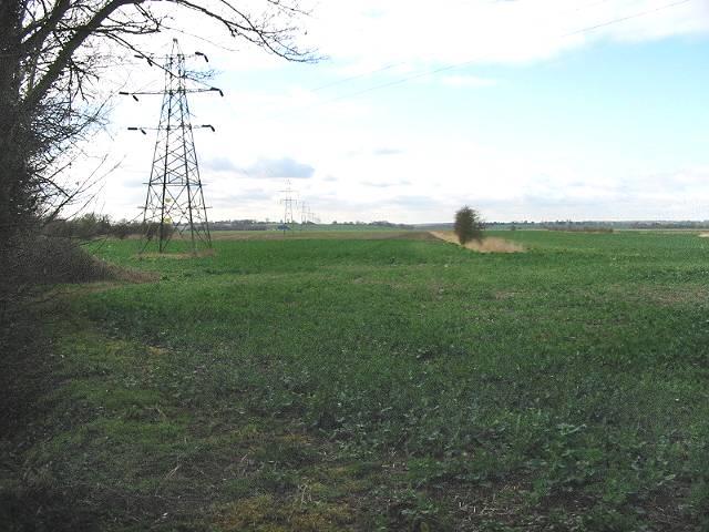 View across farmland at Sarre
