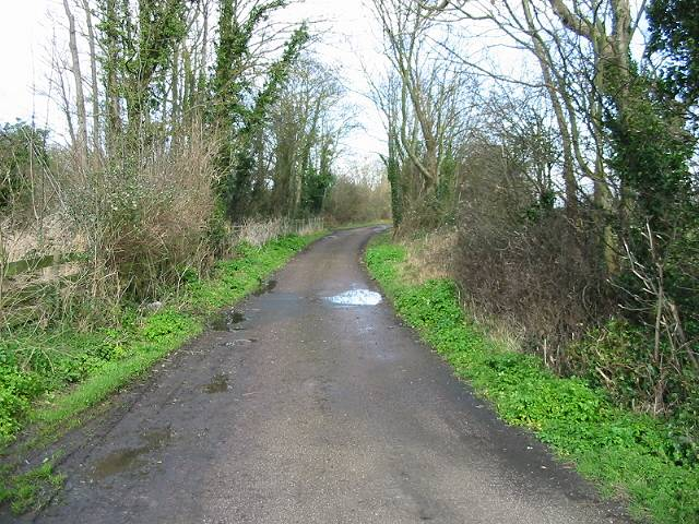 Country lane only yards away from busy A258