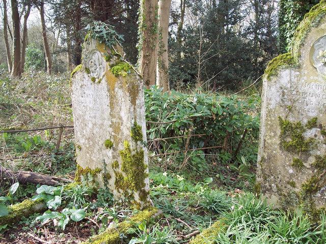 Woodland gravestones in St Mary's Churchyard