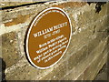SE5175 : Historic plaque near the Parish Church in Husthwaite by Phil Catterall