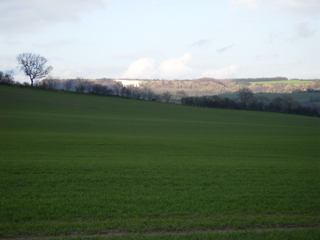 Kilburn White Horse seen from 3 Km to the south