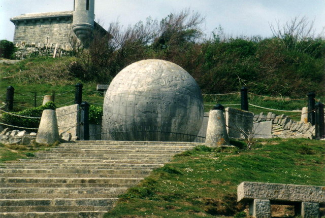 The Durlston Globe from below