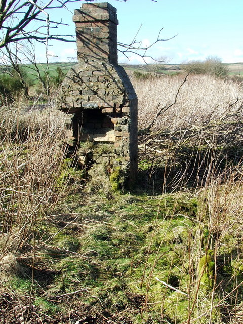 Remains of railway hut