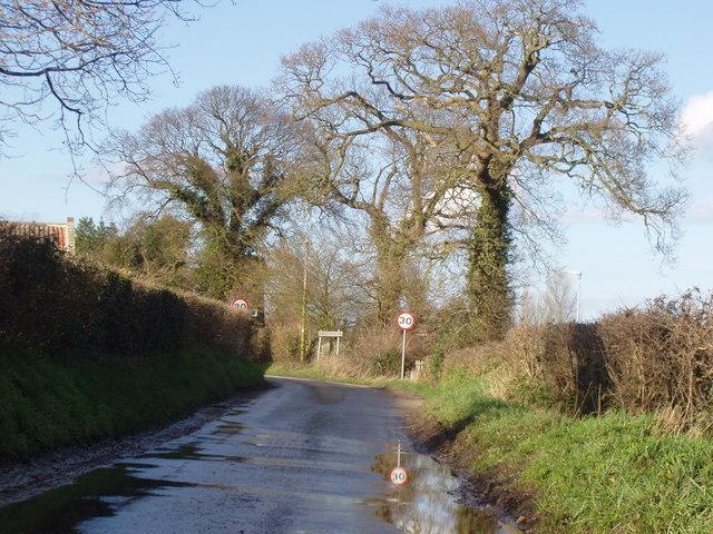 Entering the village
